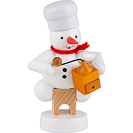 Snowman Baker with Coffee Grinder  -  8cm / 3.1 inch