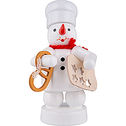 Snowman Baker with Pretzel and Star Cookie Cutter  -  8cm / 3.1 inch
