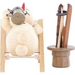 Snowman Deckchair  -  12cm / 4.7 inch