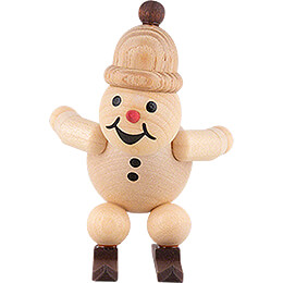 "Snowman  -  Junior ""Ski jumper at the jump"" with cap  -  7cm / 2.8 inch"