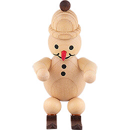 "Snowman  -  Junior ""Ski jumper at the start"" with cap  -  7cm / 2.8 inch"