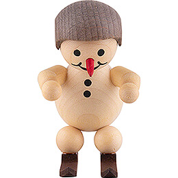 "Snowman  -  Junior ""Ski jumper at the start"" with helmet  -  5cm / 2 inch"