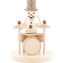 Snowman Musician Drums  -  12cm / 4.7 inch