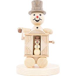 Snowman Musician Hurdy - Gurdy  -  12cm / 4.7 inch