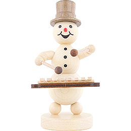 Snowman Musician Xylophone  -  12cm / 4.7 inch