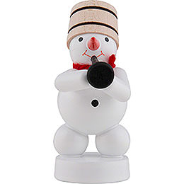 Snowman - Musician with Clarinet  -  8cm / 3 inch
