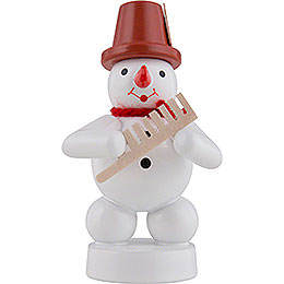 Snowman Musician with Comp  -  8cm / 3 inch
