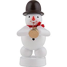 Snowman Musician with Jazz Trumpet  -  8cm / 3 inch
