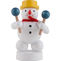Snowman Musician with Maracas  -  8cm / 3 inch