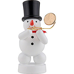 Snowman Musician with Trombone  -  8cm / 3 inch