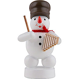 Snowman Musician with Xylophone  -  8cm / 3 inch