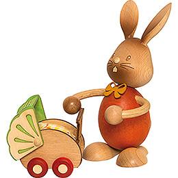 Snubby Bunny with Pram  -  12cm / 4.7 inch