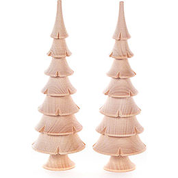 Solid Wood Trees  -  Natural  -  2 pieces  -  14,5cm / 5.7 inch