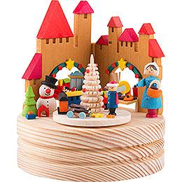 Spieldose Weihnachtsmarkt  -  11,5cm
