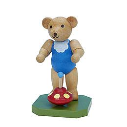 Spielzeugbär mit Brummkreisel  -  6,5cm
