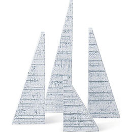 Spruces with Snow  -  Set of Four  -  14cm / 5.5 inch