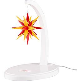Sternenbogen weiß mit A1e gelb - rot  -  29cm