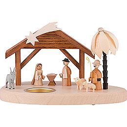 Tea Light Holder  -  Nativity  -  11cm / 4.3 inch