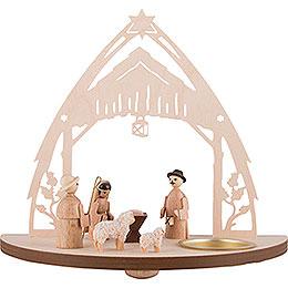 Tea Light Holder  -  Nativity  -  16cm / 6.3 inch