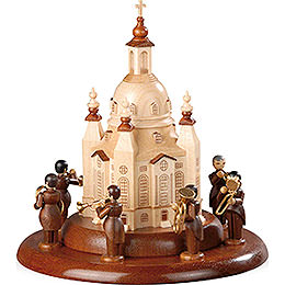 Theme Platform for Electr. Music Box  -  Brass Band at the Church of Our Lady  -  15cm / 6 inch