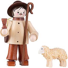 Thiel - Figur Hirte mit Schaf  -  natur  -  6cm