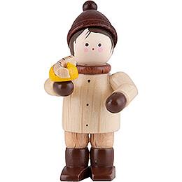 Thiel - Figur Mini - Figur Junge mit Bratwurst  -  natur  -  4,6cm