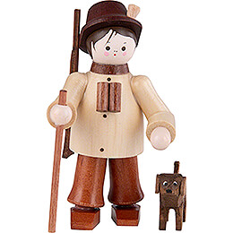 Thiel Figurine  -  Forester with Dog  -  natural  -  6cm / 2.4 inch