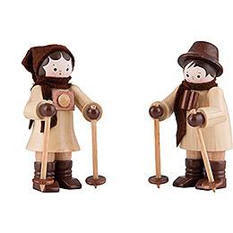 Thiel Figurine  -  Nordic - Walker  -  Couple  -  natural  -  6cm / 2.4 inch