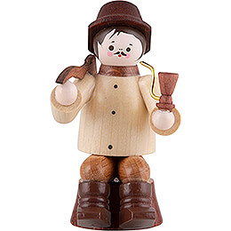 Thiel Figurine  -  Woodsman sitting on Trunk  -  natural  -  10cm / 3.9 inch