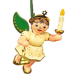 Tree Ornament  -  Angel - Light - Bell 6cm / 2,5 inch