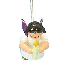 Tree Ornament  -  Angel with Torch  -  Red Wings  -  Floating  -  6cm / 2,3 inch