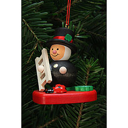 Tree Ornament  -  Chimney Sweep on Heart  -  5,1x5,6cm / 2x2 inch