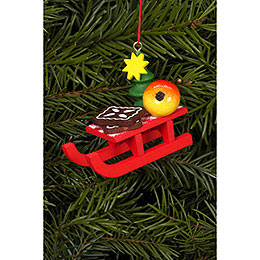 Tree Ornament  -  Christmas - Sleigh  -  5,3x4,3cm / 2x2 inch