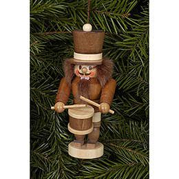 Tree Ornament  -  Drummer Natural  -  10,5cm / 4 inch