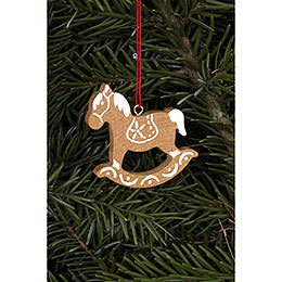 Tree Ornament  -  Ginger Bread Horse Small Brown  -  4,7x4,8cm / 1.9x1.9 inch