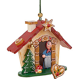 Tree Ornament  -  Gingerbread House  -  8cm / 3.1 inch