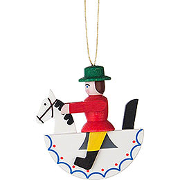 Tree Ornament  -  Horseman  -  Red  -  5cm / 2 inch