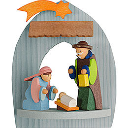 Tree Ornament  -  Nativity with Holy Family, Pickled  -  8,5cm / 3.3 inch