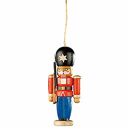 Tree Ornament  -  Nutcracker Guarding Soldier  -  8cm / 3.1 inch