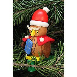 Tree Ornament  -  Owl Santa Claus on Clip  -  4,8x7,3cm / 1.9x2.9 inch