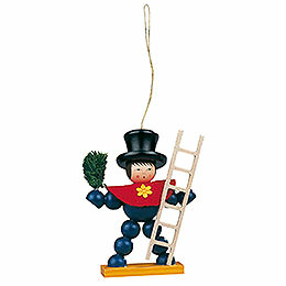 Tree Ornament  -  Plum Man Colored  -  8cm / 3.1 inch