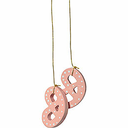 "Tree Ornament  -  ""Pretzl Pink""  -  4cm / 1.6 inch"