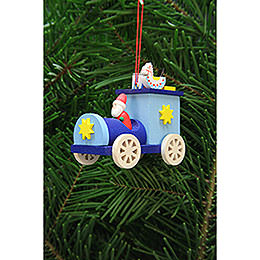 Tree Ornament  -  Santa Claus in Truck  -  7,2cm / 2.8 inch
