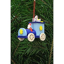 Tree Ornament  -  Santa Claus in Truck  -  7,2cm / 2.8 inch