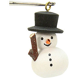 Tree Ornament  -  Snowman  -  1,1x3,0cm / 1x1 inch