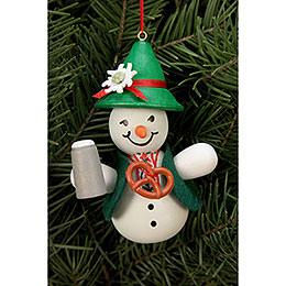 Tree Ornament  -  Snowman Bavarian  -  6,6x9,0cm / 2x3 inch