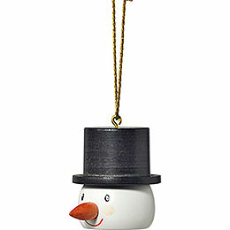 "Tree Ornament  -  ""Snowman Head""  -  4cm / 1.6 inch"