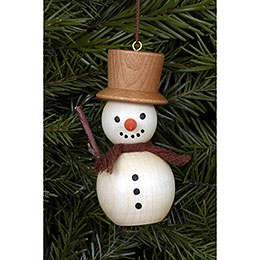 Tree Ornament  -  Snowman Natural Colors  -  3,0x7,0cm / 1x3 inch