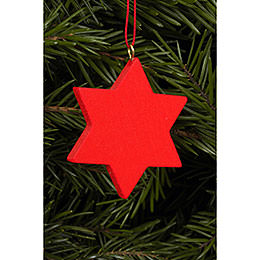 Tree Ornament  -  Star Red  -  4,4x4,4cm / 2x2 inch
