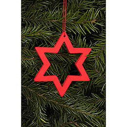 Tree Ornament  -  Star Red  -  7,8 / 6,2cm  -  3x2 inch